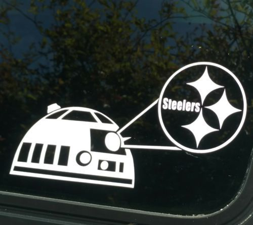 Pittsburgh steelersr2d2 decalvinyl car truck window sticker football star wars