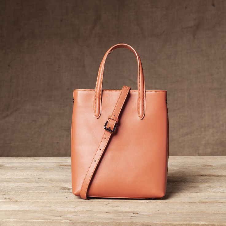 Monaco Mini Shopper - Back View #Mini #Shopper #Handbag #FW15 #Pumpkin #Nappa #Leather