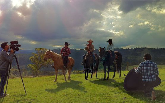 An ABC production called Bushwacked, About a couple of kids doing a cattle muster as part of their challenge
