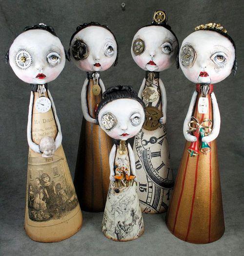 Steampunk Souls Art Doll Pop Surrealism by michelelynchart on Etsy
