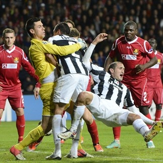 Jesper Hansen, Nordsjaelland. | FC Nordsjaelland 1-1 Juventus. 23.10.12.