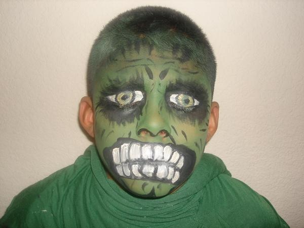 Face painting incredible hulk halloween pinterest for Incredible hulk face template