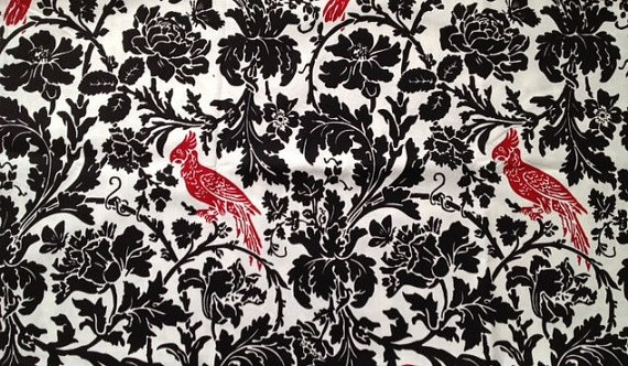 Premier Prints Black Pattern with Red Bird by AStepInTimeBoutique, $8.00