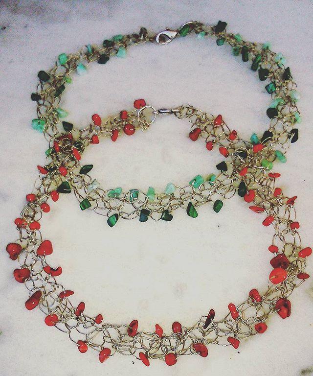 Crochetwithwire#handmadenecklaces#semipreciousstones#greekdisigners#fall #winter #