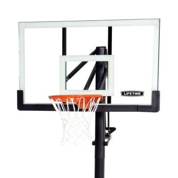 lifetime basketball system 54inch arcylic backboard goal with pump height adjuster