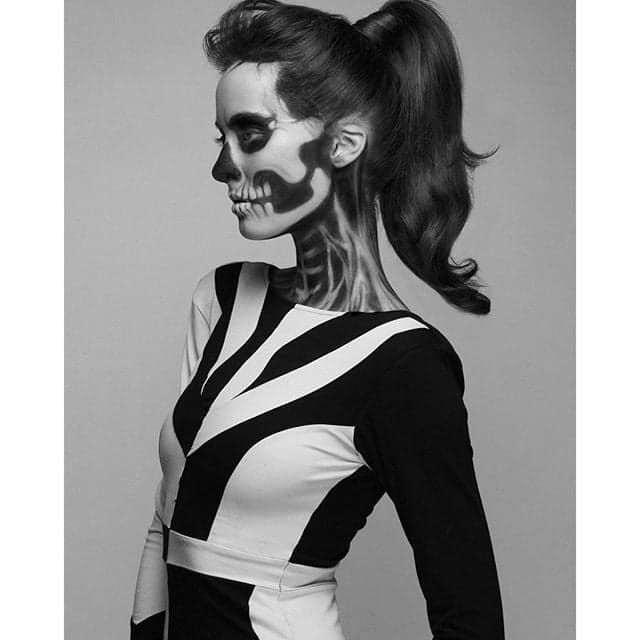 Makeup, Beauty, Hair & Skin | 32 Skeleton Makeup Transformations For a Halloween Beyond the Grave | POPSUGAR Beauty UK