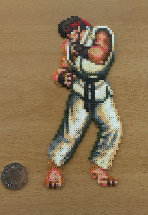 Ken and Ryu Sprites from Capcoms Super Street Fighter 2. SNES  Made from 1,666…