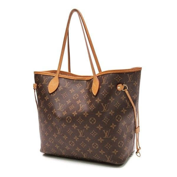 Pre-Owned Louis Vuitton Monogram Canvas Neverfull MM Tote Bag ($850) ❤ liked on Polyvore featuring bags, handbags, tote bags, brown, louis vuitton tote, man bag, brown tote, handbags totes and louis vuitton handbags