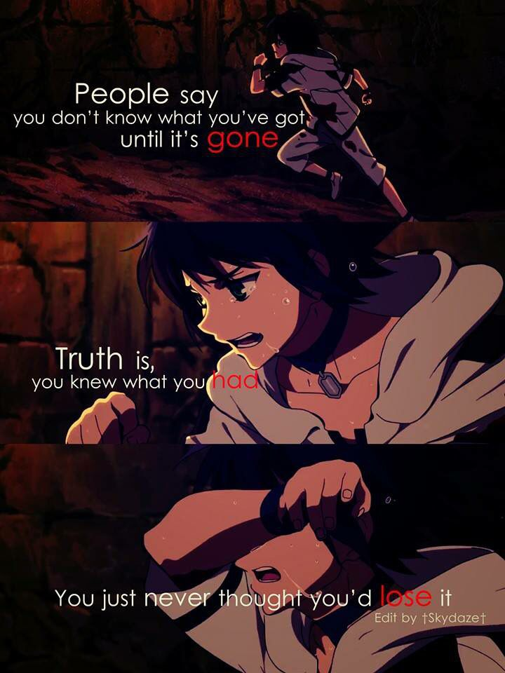 Anime : owari no seraph ----------------------------------------- whoa. i didnt even know this quote was from an anime xD (I had this quote saved with no images of an anime in the background)