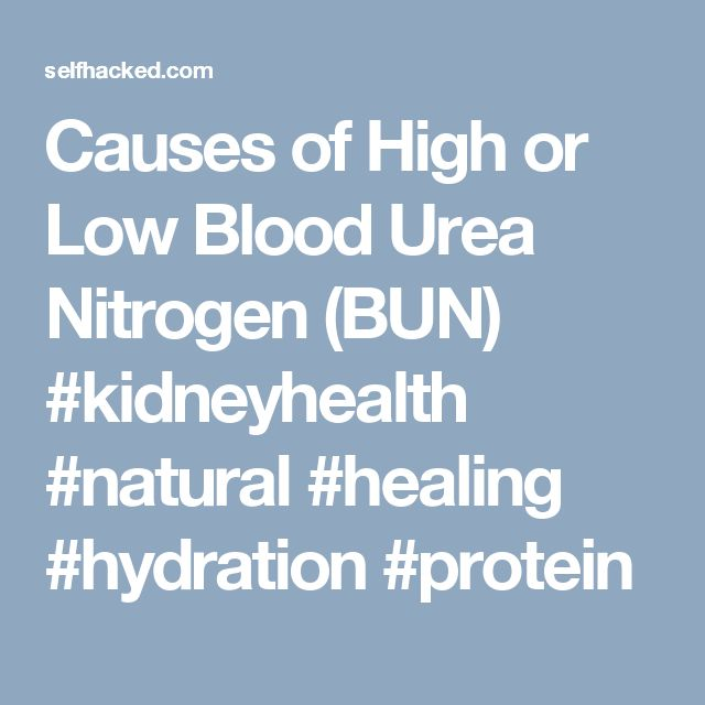 Causes of High or Low Blood Urea Nitrogen (BUN) #kidneyhealth #natural #healing #hydration #protein