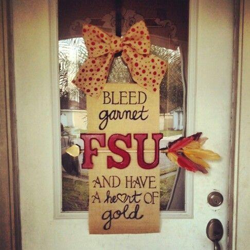 FSU burlap door hanger My brother would so love this!