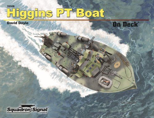 Higgins PT Boat On Deck:   Andrew Jackson Higgins' New Orleans boat-building firm, Higgins Industries, constructed numerous vessels for the US war effort during WWII. Among them were 78-foot Patrol Torpedo (PT) boats. Although not as well publicized as the 80-foot Elco PT boats, the 209 boats built by Higgins fought alongside their New Jersey–constructed counterparts, earning a reputation for ruggedness in the Atlantic, Mediterranean, and Pacific. This volume showcases the details of H...