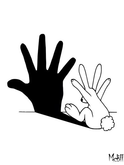 Perfect, funny and intelligent as it can be - Rabbit Hand Shadow by Mobii