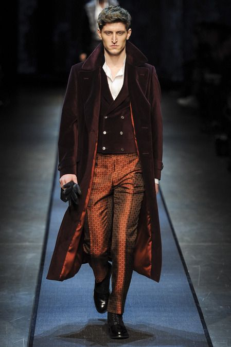 #7 Canali Fall 2013 frock coat is longer than the ones worn in the Crinoline period, but is the same style of outwear jacket.