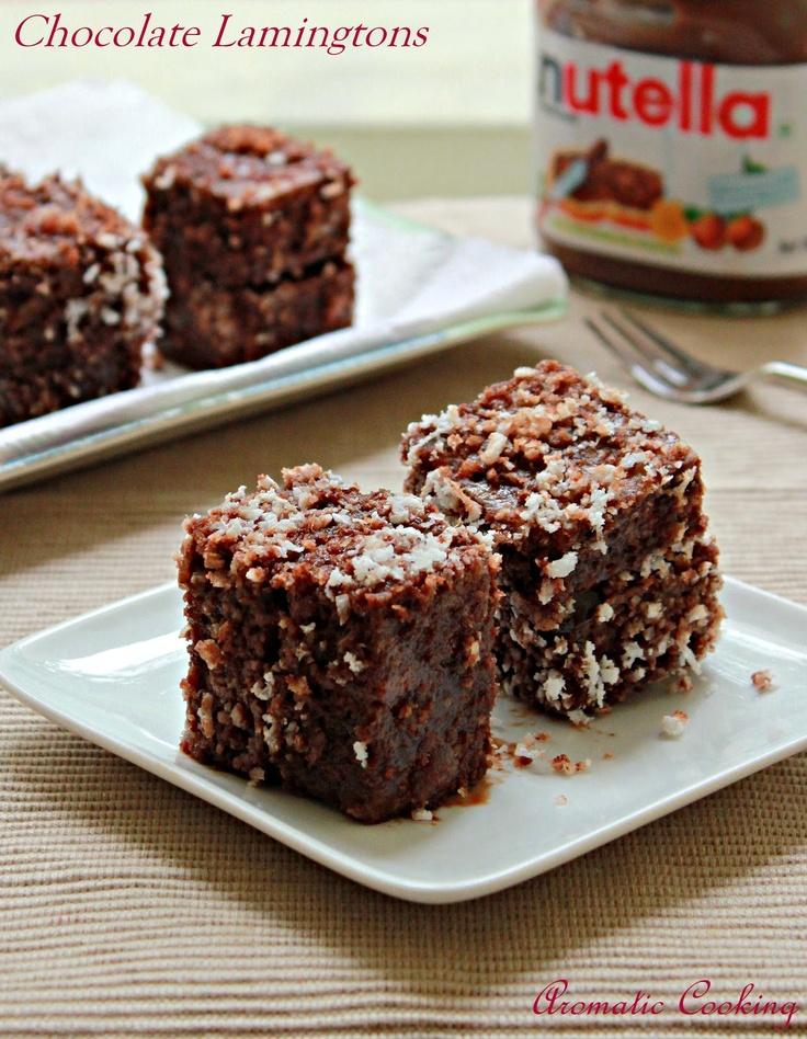 Nutella Chocolate Lamingtons