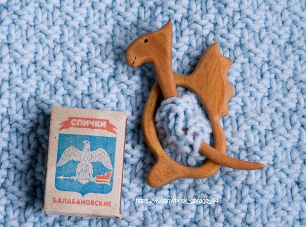 barrette, brooch, fibula Dragon. Wood: Juniper