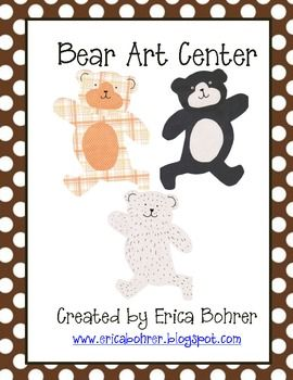 This download is for a free bear art center. Your students can use the tracers to create a polar bear, black bear, grizzly bear, panda bear, and m...