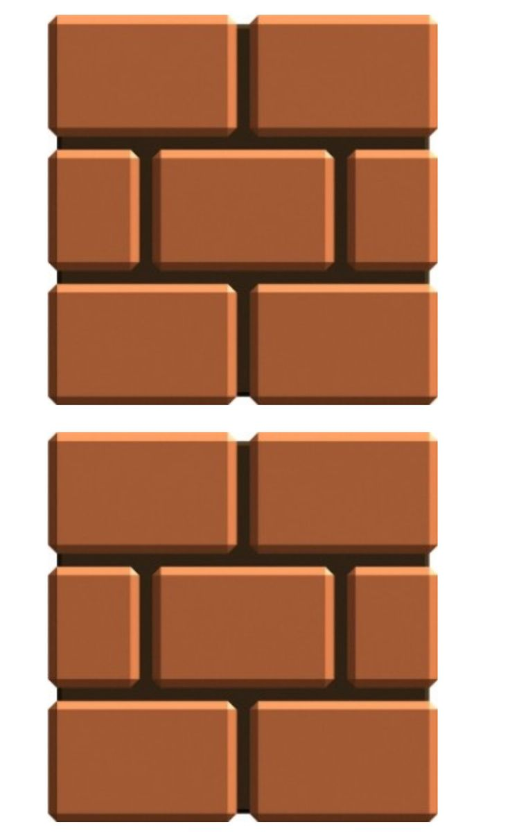 """7"""" brick box template Super Mario Brothers!  [designed by Missy_Robb] ~ look for pinterest pinner Melissa Robb (missy_robb) for great birthday party themes ~"""