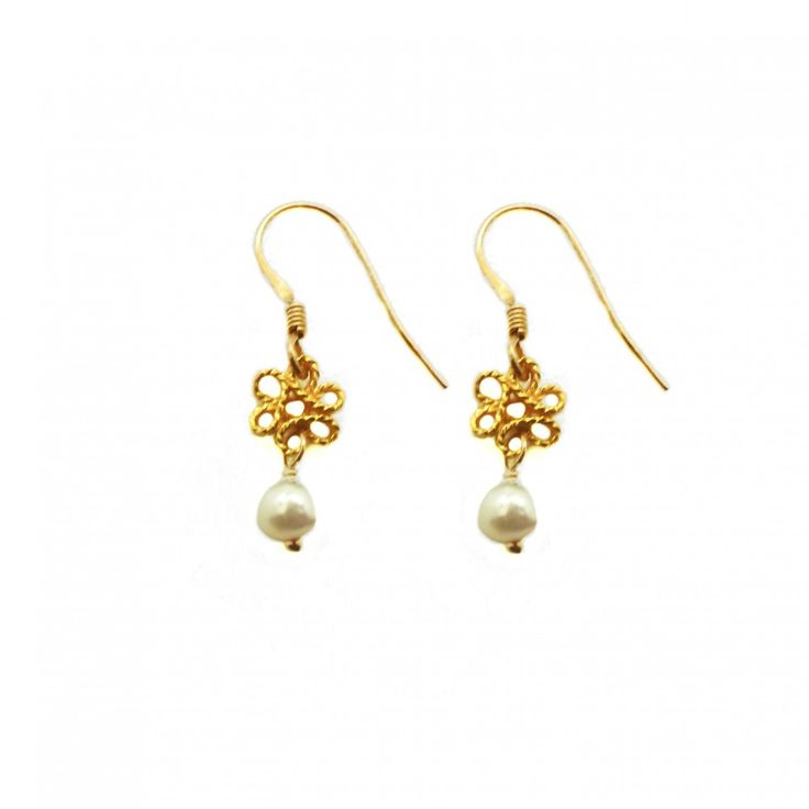 Infinity Earring XS With Pearl