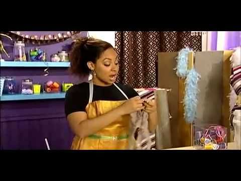 Raven teaches how to fix a bra when the underwire pokes out.