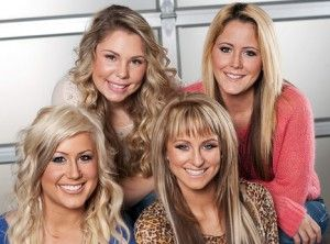 Teen Mom 2 cast. Kailyn Lowry, Jenelle Evans, Leah Messer, and Chelsea Houska. #TeenMom