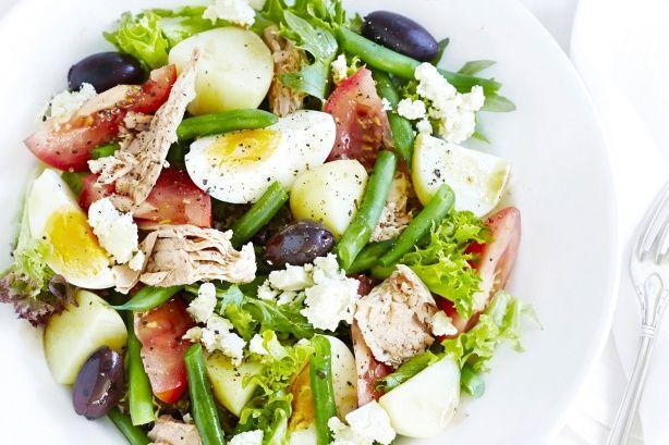 Nicoise-style tuna salad main image. 30  minutes to prepare. #salad #food #dishes #coocking