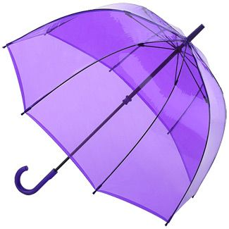 Fulton Birdcage Lavender - see through PVC dome umbrella £16.00