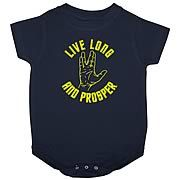 live long and prosper onesie Star Trek sign language boy