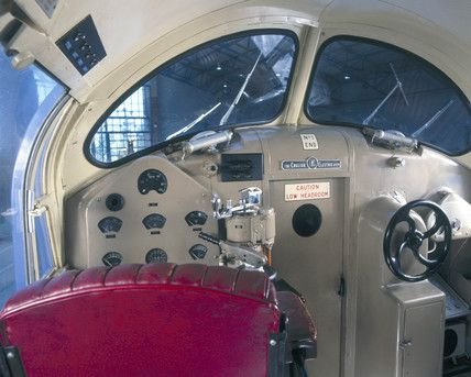 Inside the cab of the Prototype 'Deltic' di