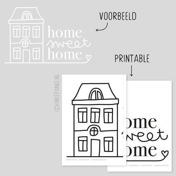 Home huis quote raamtekening