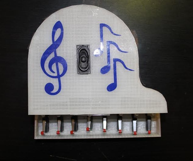 Hey guys, today we will make an electronic Arduino based piano (E-Piano). It is a simple piano that plays the basic musical notes (Do Re Me Fa So La Si). I have added a custom Super Mario Bros Melody to the E-Piano which was done by PrinceTronics; a button is assigned to played the custom melody. You can add your own custom made melodies if you want.Let's get started and see how can we make our e-piano.This project was made in Fablab Dhahran.