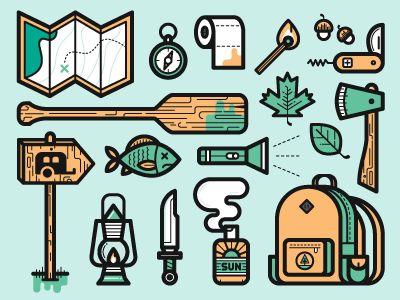 dribbblepopular: Camping Icons Original:... | Awesome Design Inspiration