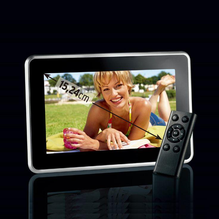 New Fashion 6 inch Mini Digital Photo Frame, Photo, Music & Video Player, Clock & Calendar, Best Gift, Free Shipment.