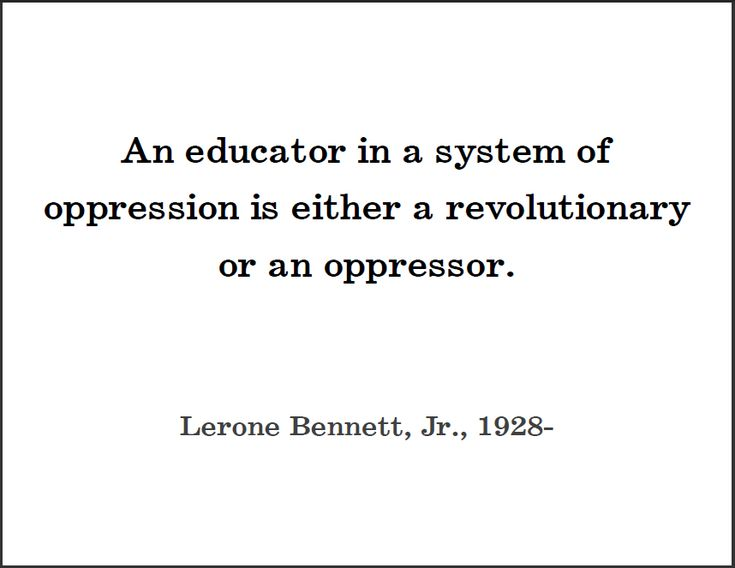 oppressive education Eradicating oppression through education 162 likes a sharing of information about the social exigencies of our times, especiallly those relevant to the.