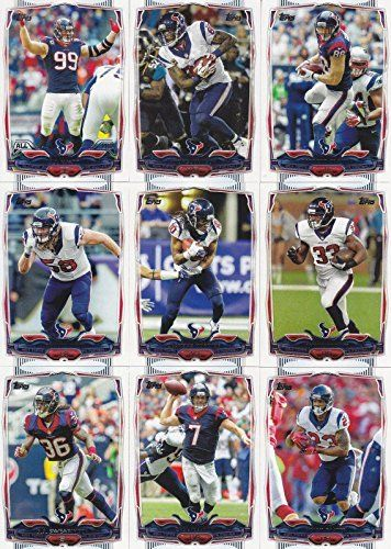 Houston Texans 2014 Topps NFL Football Complete Mint 15 Card Team Set Including the Rookie Card of the 2014 NFL #1 Draft Pick Jadeveon…