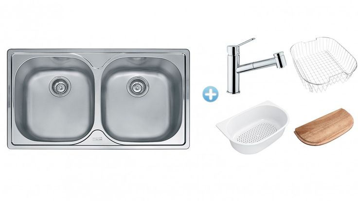 Franke Inset Sink and Pull-Out Mixer Package - Sinks - Sinks & Taps - Kitchen Appliances | Harvey Norman Australia