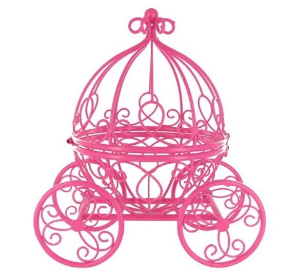 Pink Cinderella Pumpkin Carriage - Cute Princess- Great for a Little Girl's Room or a Wedding Table Centerpiece by GlitzyCraftBoutique on Etsy https://www.etsy.com/listing/112615488/pink-cinderella-pumpkin-carriage-cute