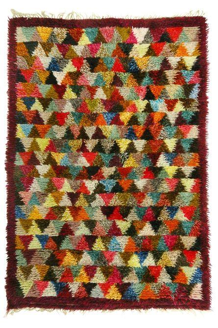 Handmade Geometric Carpet via SCANDINAVIAN MODERNISTS. Click on the image to see more!