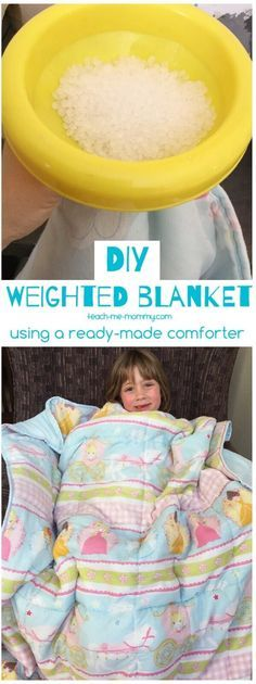 DIY Weighted Blanket, using a ready-made comforter duvet.