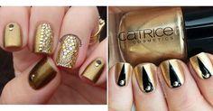 30 diseños de uñas en dorado para deslumbrar en las fiestas
