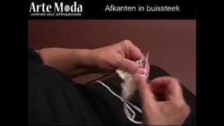 Arte Moda voorbeeld breien: Afkanten in buissteek