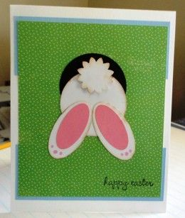 Rabbit down the hole - perfect easter card to make