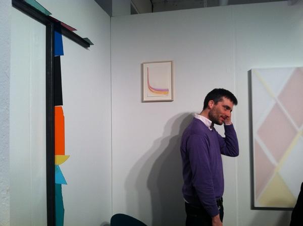 Artist Henrik Eiben and his work at Pablo's Birthday, Volta 2012