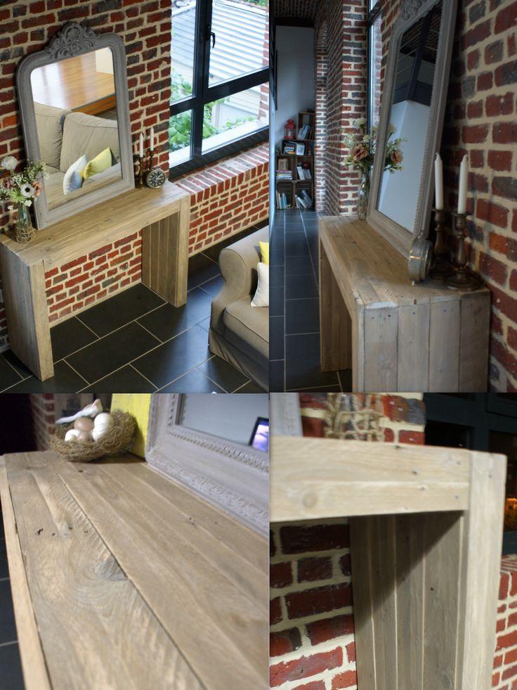 DIY DECO-LOFT  Ma console en bois réalisée avec des palettes de bois.