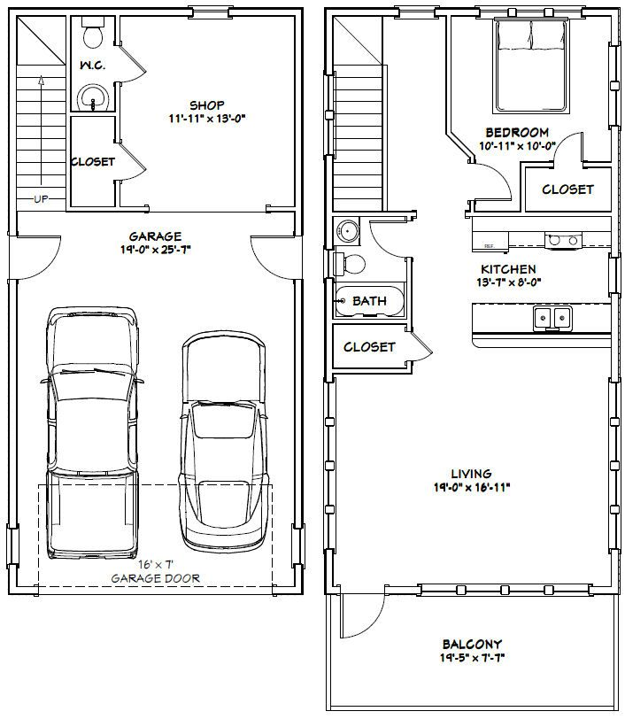 Best 25 20x40 house plans ideas on pinterest for 25 x 40 garage plans