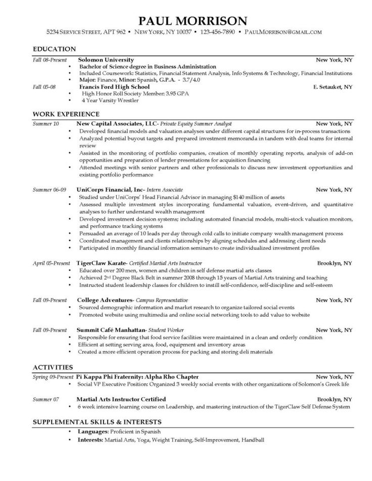 Resume Templates Microsoft Word College Student Template