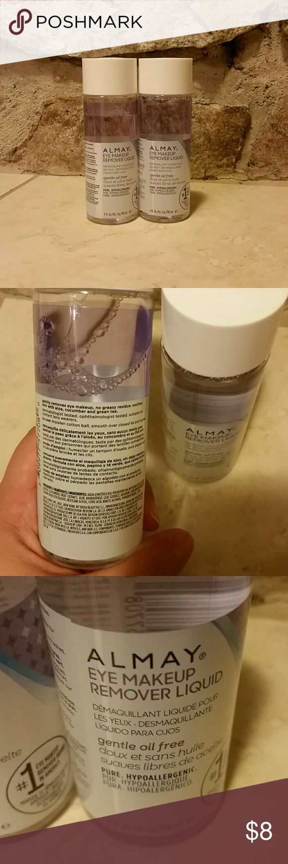 Almay makeup remover 2 Almay makeup removers. Brand new still sealed. Both are 4 fl oz. Makeup