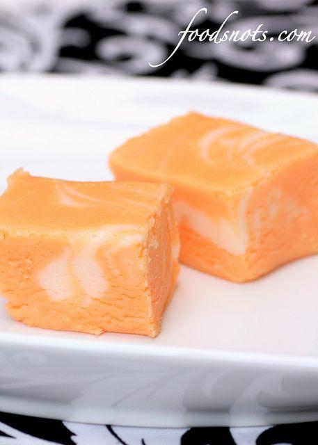 Marbled Orange #Fudge recipe
