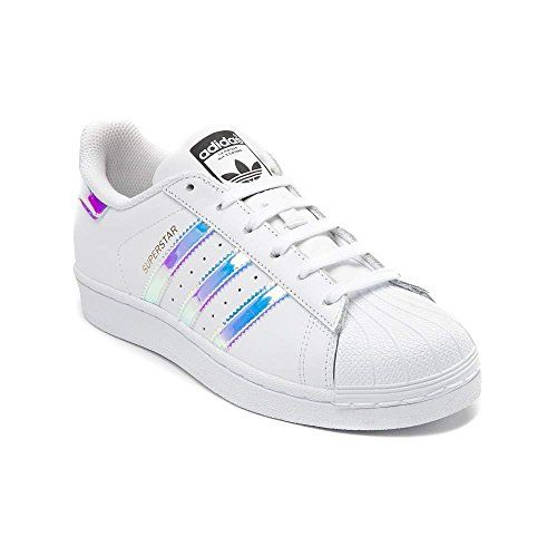 Adidas Originals Women\u0027s Superstar W Fashion Sneaker (Womens  White/Iridescent)