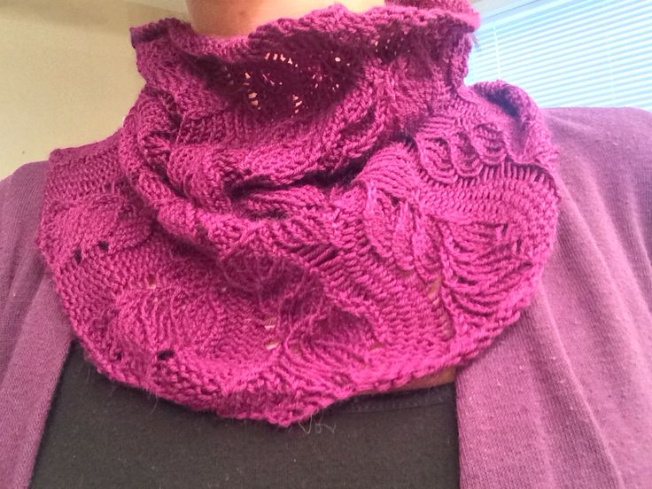 Lace Cowl from sock yarn!